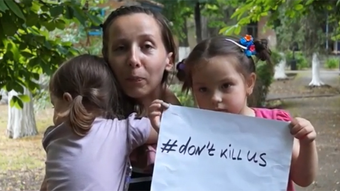 'Bombardment never stops': E. Ukrainian refugees share horrors of Kiev military op