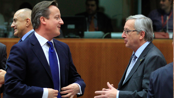 Britain's Cameron intensifies campaign against Juncker for top EU position