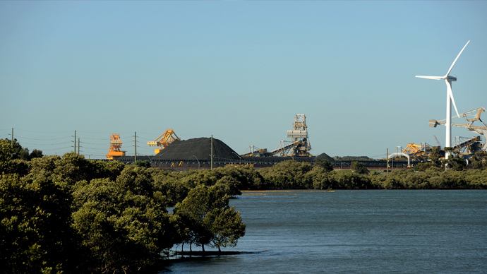 The site of a proposed new terminal at the coal port of Newcastle in Australia's New South Wales state (AFP Photo)