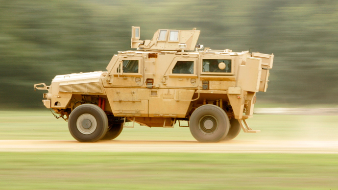 A Mine Resistant Ambush Protected (MRAP) Classification One vehicle (Reuters / Larry Downing)