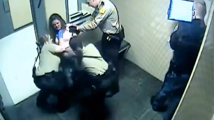 Police forcibly strip, lock up, pepper-spray Indiana woman (VIDEO)