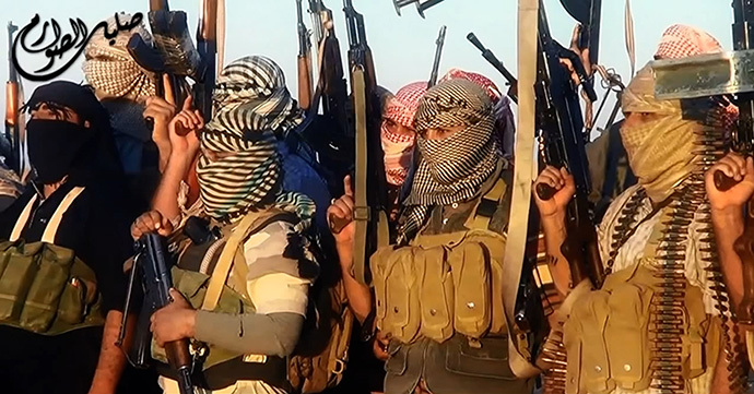 An image grab taken from a propaganda video uploaded on June 8, 2014, by the jihadist group the Islamic State of Iraq and the Levant (ISIL) allegedly shows ISIL militants near the central Iraqi city of Tikrit. (AFP Photo / HO / ISIL)