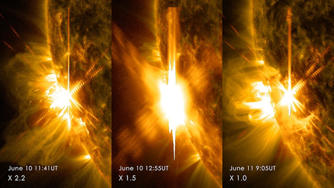 Bad news for GPS: Sun releases three powerful flares in two days (PHOTOS, VIDEO)