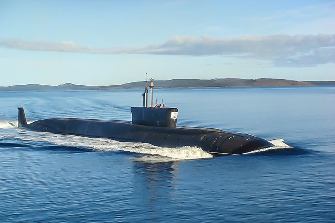 "The nuclear submarine ""YuriyDolgoruky"" (Photo courtesy of ""Sevmash"" press service)"