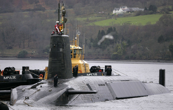 British Royal Navy Vanguard class Trident Ballistic Missile Submarine (Reuters/David Moir)