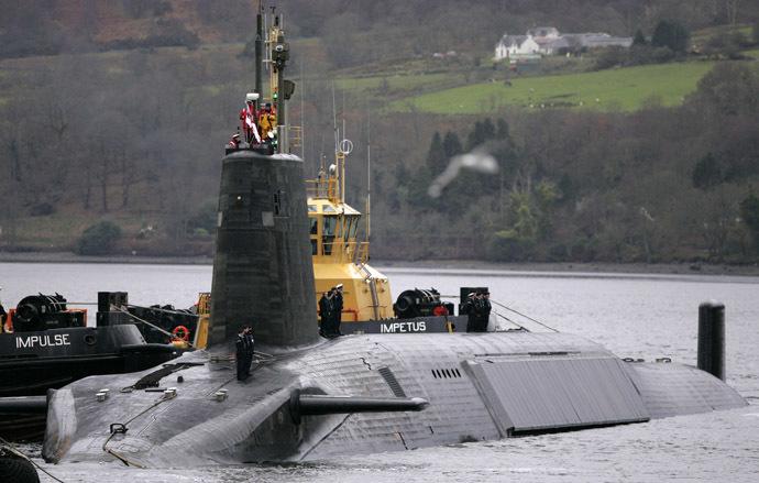 British Royal Navy Vanguard class Trident Ballistic Missile Submarine (Reuters/David Moir)