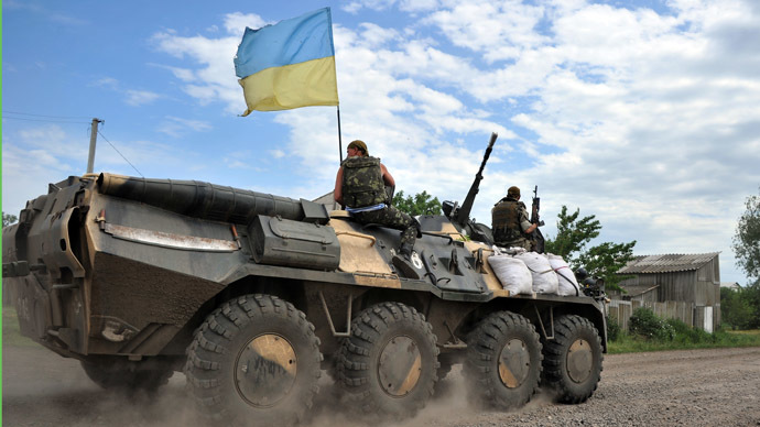 Ukrainian APC with troops breaches Russian border