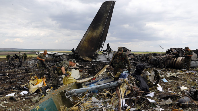 49 Ukrainian troops killed as transport plane downed in Lugansk (PHOTOS, VIDEO)