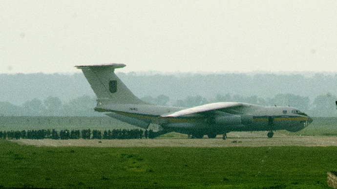 A Ukrainian military Il-76 jet (RIA Novosti / Natalia Seliverstova)