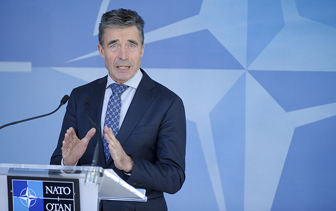 NATO Secretary-General Rasmussen (Reuters / Laurent Dubrule)