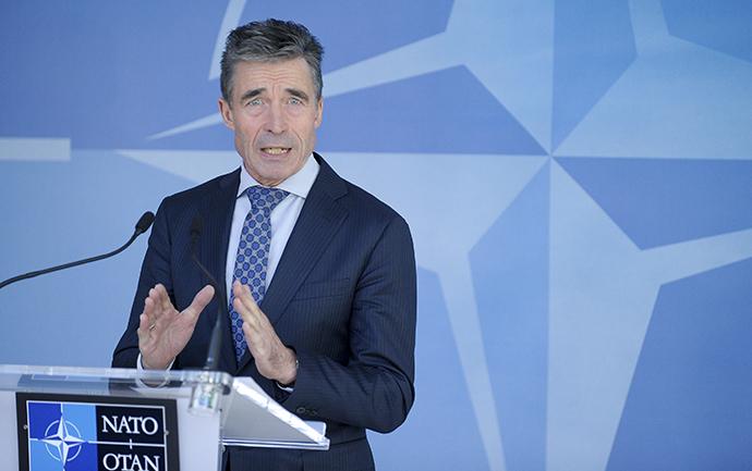 NATO Secretary-General Rasmussen (Reuters / Laurent Dubrule)