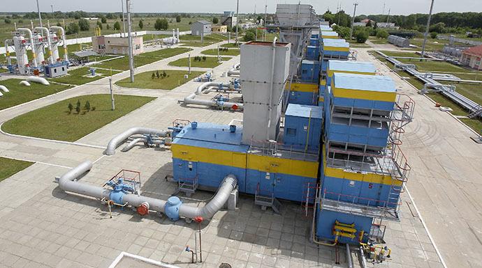 An underground gas storage facility is seen in the village of Mryn, 120 km (75 miles) north of Kiev. (Reuters / Gleb Garanich)