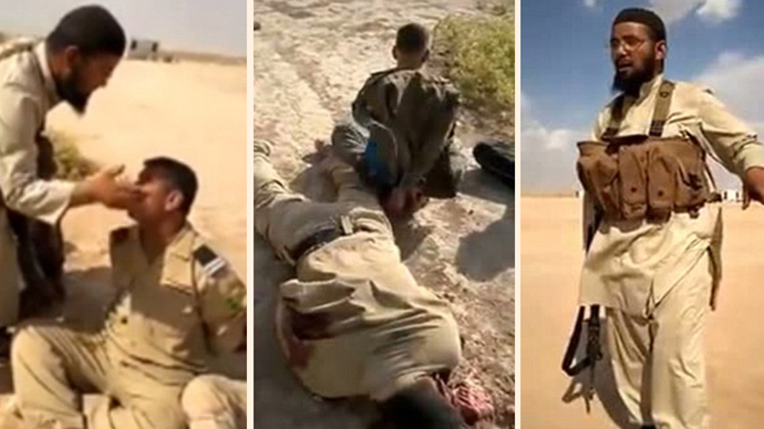 ​Gruesome ISIS atrocities: Video shows Iraqi soldiers insulted, then executed (GRAPHIC)