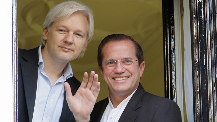 Assange to hit runway for Vivienne Westwood's son