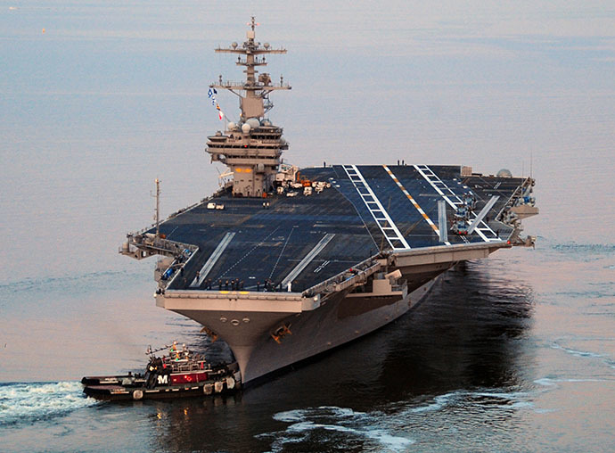 This US Navy photo shows the Nimitz-class aircraft carrier USS George H.W. Bush (AFP Photo / Nicholas Hall)