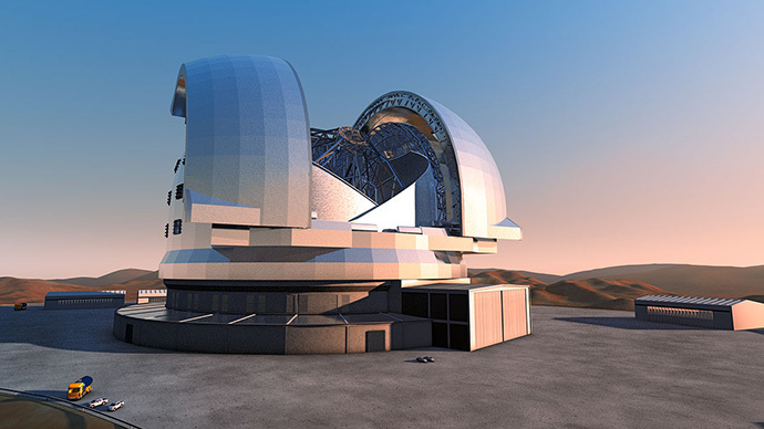 Astronomers blast off mountain top for largest ever telescope