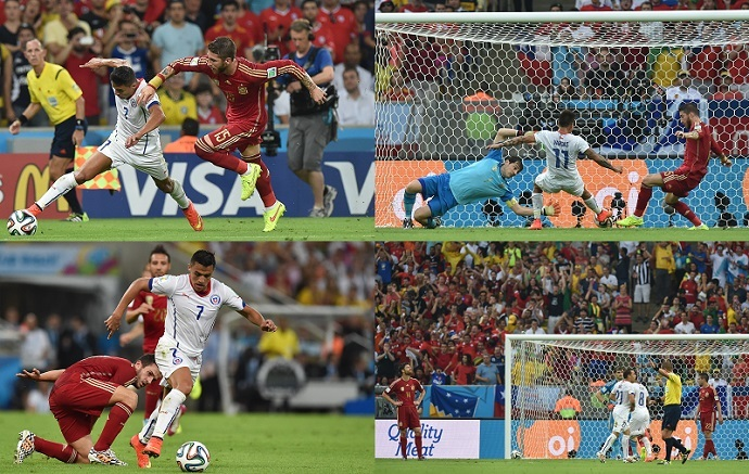 2014 World Cup Group B football match between Spain and Chile on June 18, 2014. (RIA Novosti/Alexander Vilf)