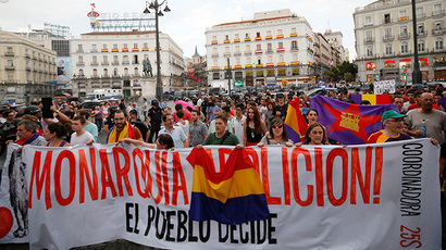 Anti-monarchy rally hits Madrid, 10 injured, 3 arrested (PHOTOS, VIDEO)