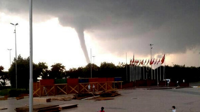 Twister on CCTV: Wisconsin gas station's direct hit from tornado (VIDEO)
