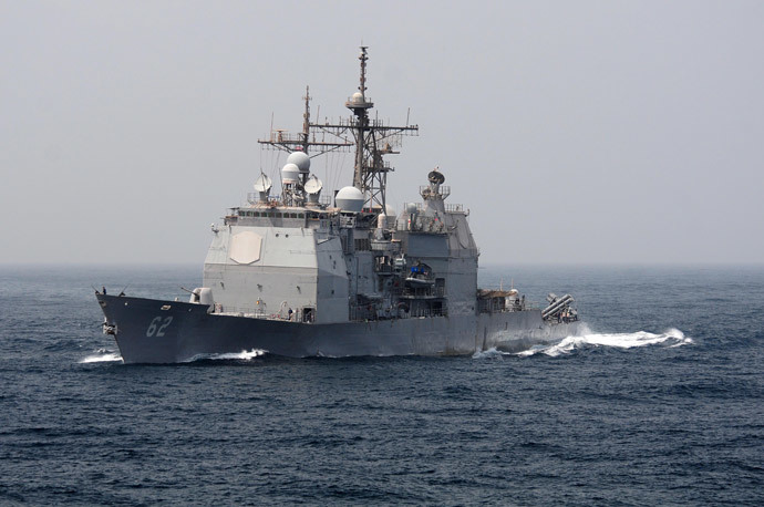 USS Chancellorsville (AFP Photo / Handout / US Navy / MC3 Alexander Tidd)