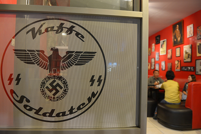 """Soldatenkaffe """"The Soldiers' Cafe"""" in Bandung, Indonesia (AFP Photo / Adek Berry)"""