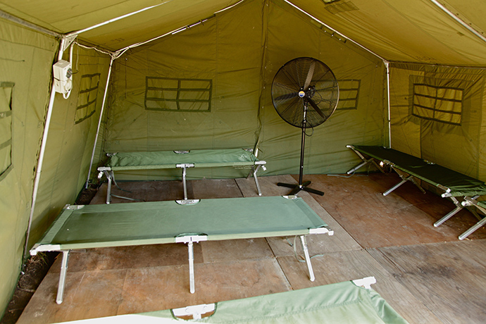 The interior of a tent at Australia's regional processing centre on Manus Island in Papua New Guinea (AFP Photo)