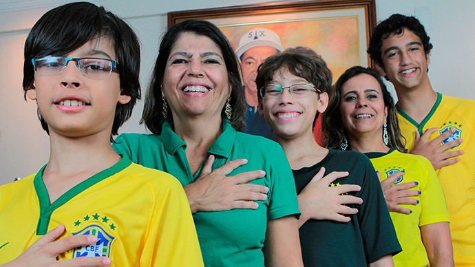Fingers crossed! Six-fingered family hopes luck will bring Brazil 6th World Cup