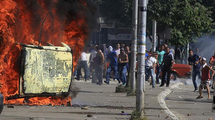Tear gas, rubber bullets as ethnic Albanians clash with Kosovo police (PHOTOS)