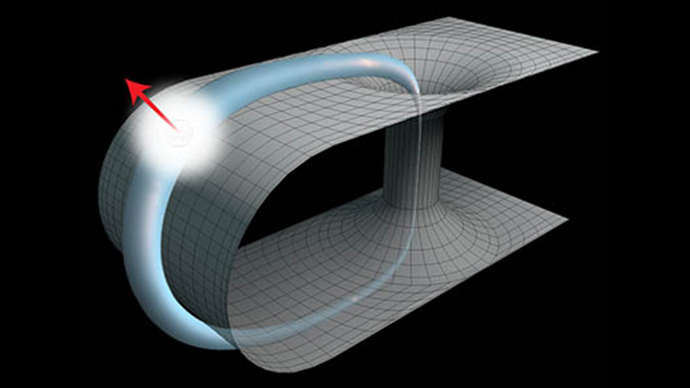 Time-traveling photons connect general relativity to quantum mechanics