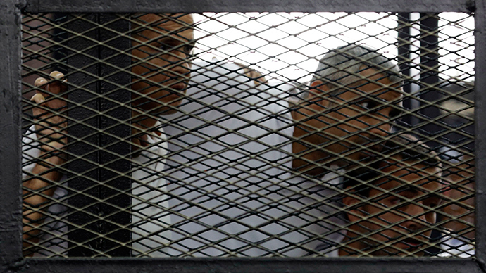 Egypt court sentences Al Jazeera journalists to 10 & 7 years in prison
