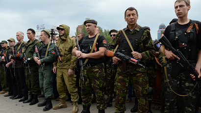 Militia down chopper near Slavyansk, 9 feared dead – military spokesman