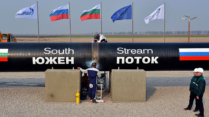 Putin: US unhappy with South Stream because it wants to deliver gas to Europe