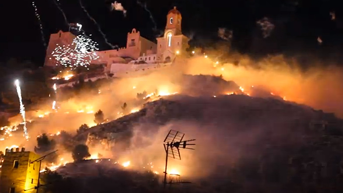 Spanish mayor charged for setting town ablaze (VIDEO)