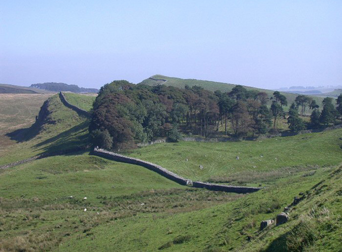 Hadrian's Wall crosses Northumberland National Park (Image from wikipedia.org)