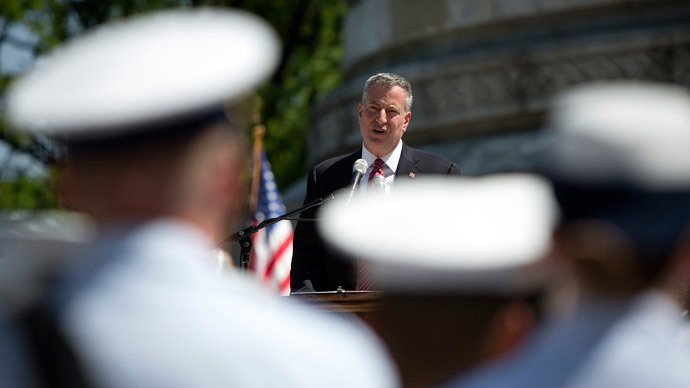 New York mayor Bill de Blasio.(Reuters / Carlo Allegri)