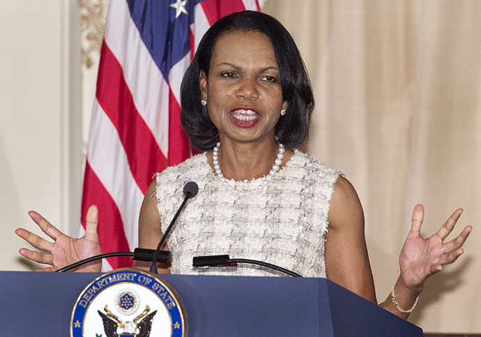 Former US Secretary of State Condoleezza Rice (AFP Photo / Paul J. Richards)