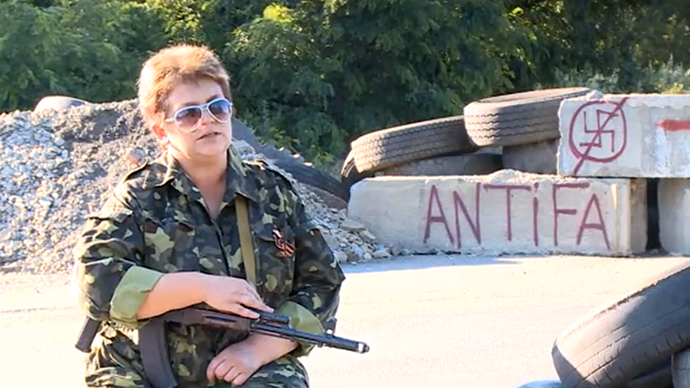 'They've come to kill us': Ukrainian girls and women join fight against Kiev
