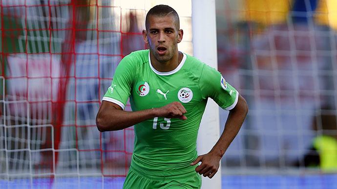 Algeria's Islam Slimani. (Reuters / Denis Balibouse)