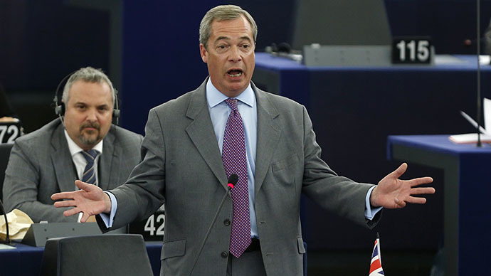 'Dull & backward': UKIP's Farage slams MEPs in anti-EU tirade