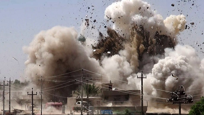 ISIS jihadists demolish mosques, shrines in northern Iraq (PHOTOS)