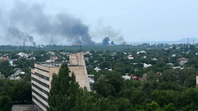 Ukraine army assaults Lugansk: Airstrikes on suburbs, shelling of residential areas