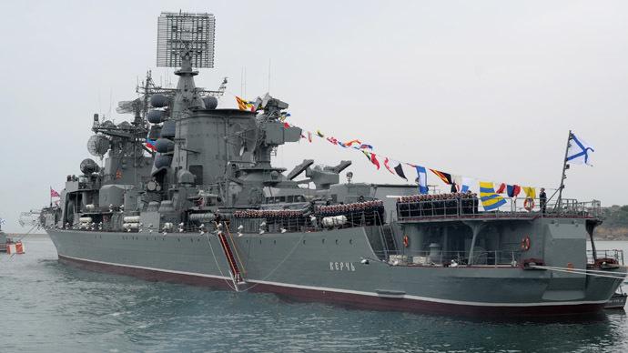 "Large anti-submarine combat ship ""Kerch"" of the Russian Black Sea Fleet (RIA Novosti/Alexei Druzhinin)"