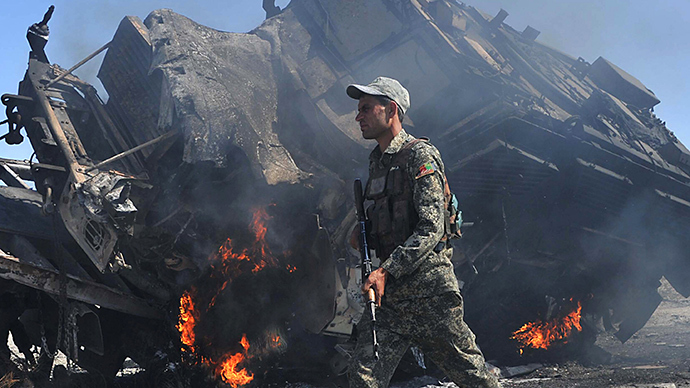 At least 4 NATO troops reported killed in Afghan suicide bombing