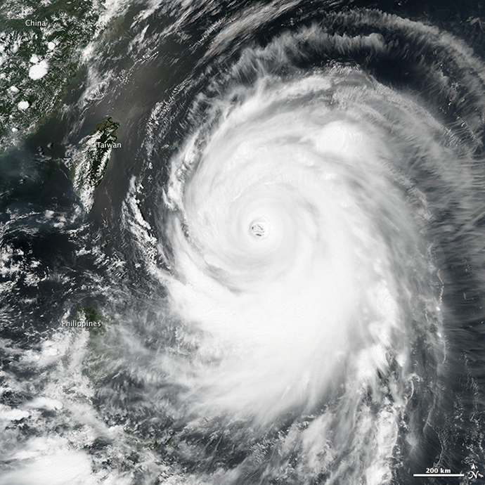 Typhoon Neoguri (image from earthobservatory.nasa.gov)