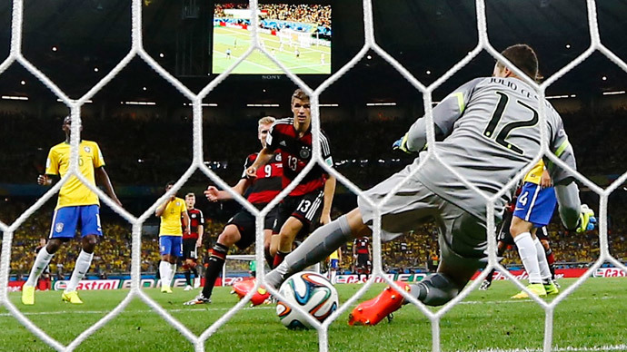Humiliation: Brazil demolished by Germany 1-7 in World Cup semi-final