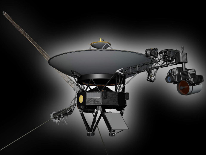 An undated artist's concept shows NASA's Voyager 1 spacecraft. (Reuters/NASA)