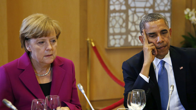 U.S. President Barack Obama and German Chancellor Angela Merkel (Reuters)