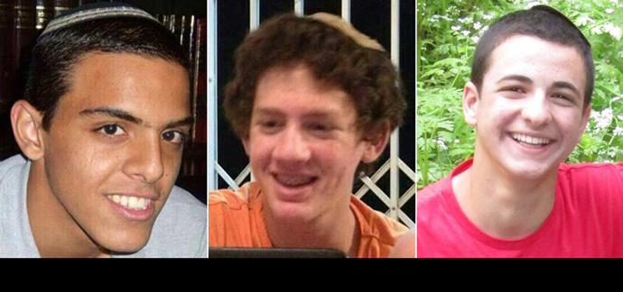 A combination of undated family handout pictures made on June 18, 2014 shows the three Israeli teenagers believed kidnapped by Palestinian militants, (From L to R) Eyal Yifrach, 19, Naftali Frenkel, 16 and Gilad Shaar, 16. (AFP Photo)