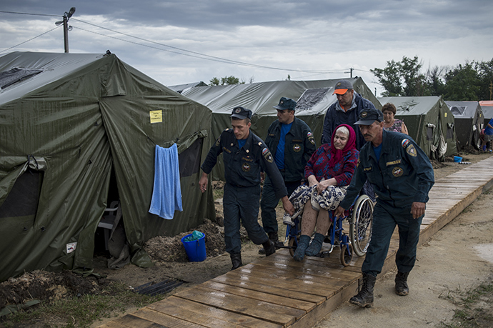 Refugees from Ukraine in a camp in the Rostov region (RIA Novosti / Valery Melnikov)
