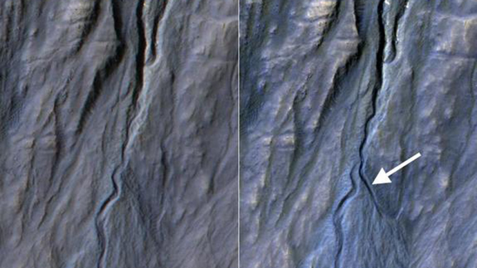 Dry ice, not liquid water responsible for Martian gullies